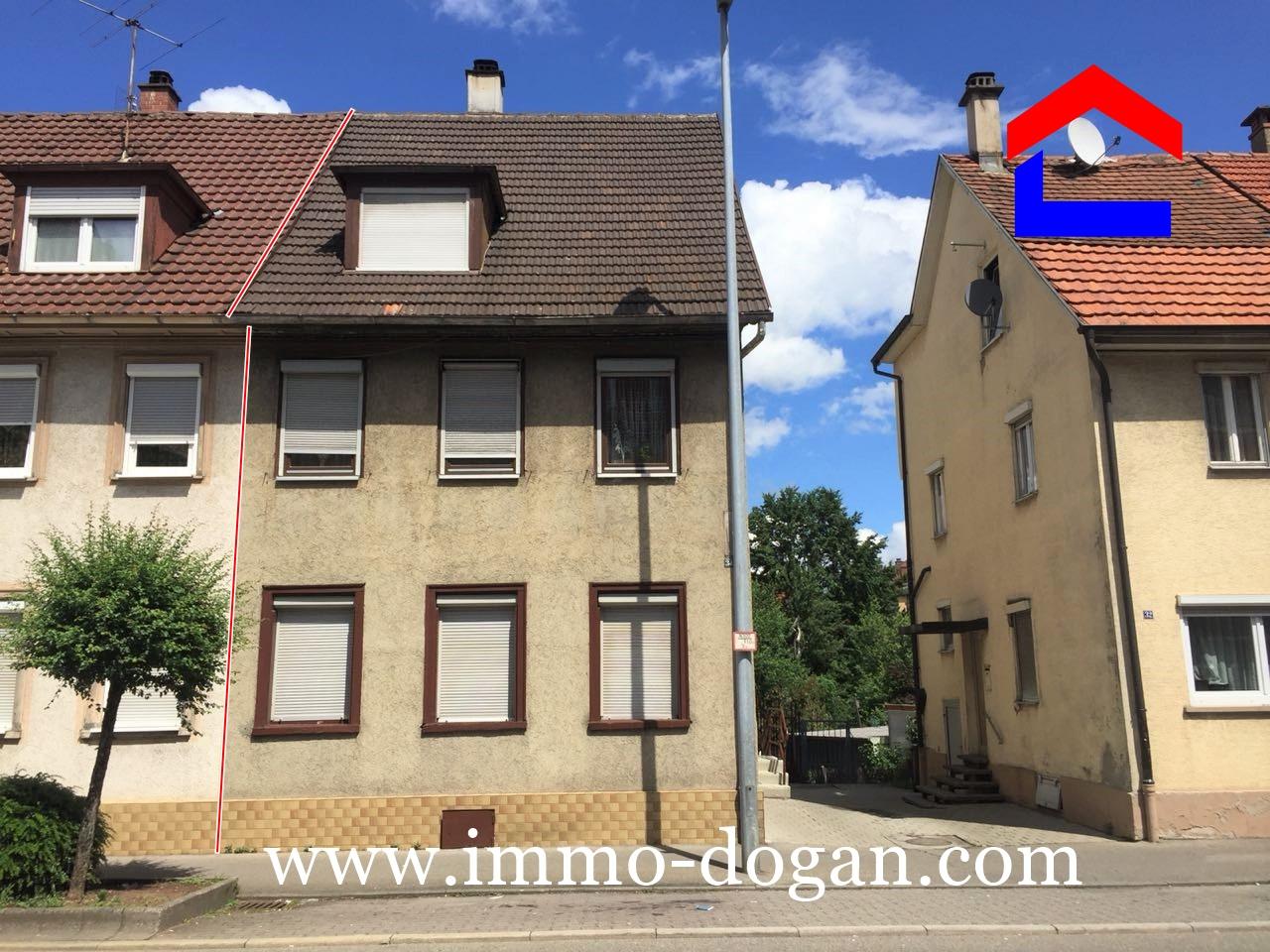 2 Familien-Stadthaus mit kleinem Lagerraum/Werkstatt